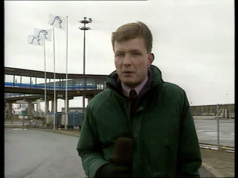 stockvideo's en b-roll-footage met estonia ferry disaster / weather closes in finland turku munro i/c sot sign off - ferry
