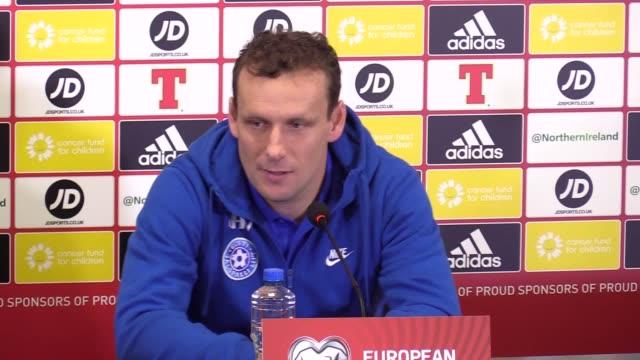 Estonia manager Martin Reim and midfielder Konstantin Vassiljev speak ahead of their Euro 2020 qualifier against Northern Ireland