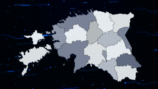 Estonia network map