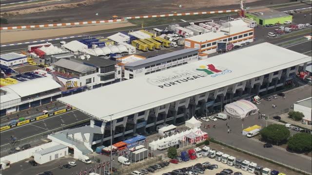 aerial ws estoril race circuit / setubal, portugal - エストリル点の映像素材/bロール
