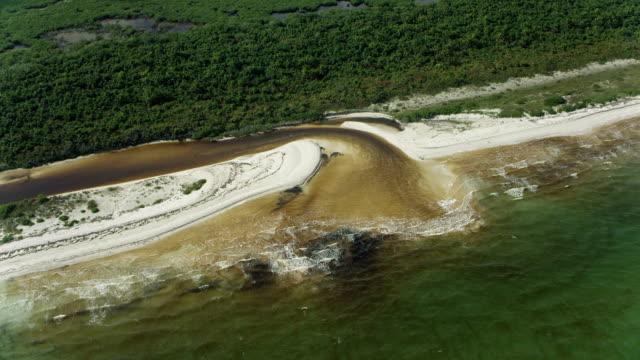 estuary and beach in yucatan mexico - yucatan peninsula stock videos and b-roll footage