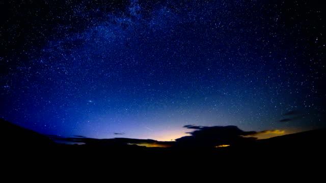 eta aquarid meteor shower time-lapse - gore range stock videos and b-roll footage