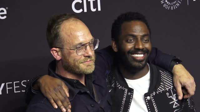 ethan embry and baron vaughn at the paley center for media los angeles 2019 panel presentation of 'grace and frankie' at the dolby theatre in... - paley center for media los angeles stock videos & royalty-free footage