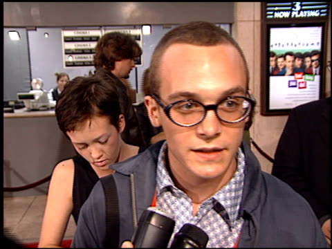 ethan embry at the 'that thing you do' premiere at cineplex odeon in century city, california on october 1, 1996. - odeon cinemas点の映像素材/bロール