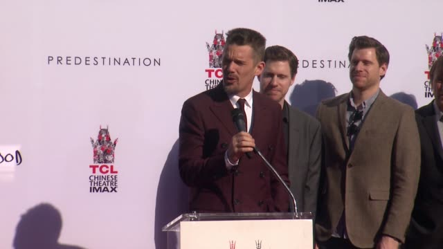 SPEECH Ethan Hawke at the TCL Chinese Theater Handprint And Footprint Ceremony Honoring Ethan Hawke at TCL Chinese Theatre on January 08 2015 in...