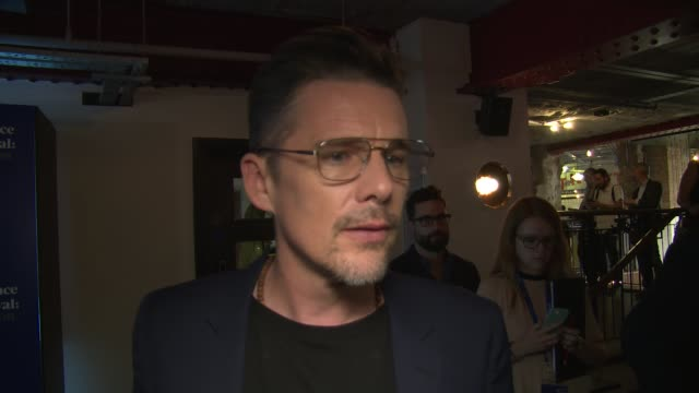 ethan hawke on killer roles priesthood his character and the intensity of the part at picturehouse central on june 01 2018 in london england - priest stock videos & royalty-free footage