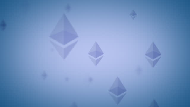 ethereum eth nft vertical logo icon looping background indigo blue on subtle blue background - loopable moving image stock videos & royalty-free footage