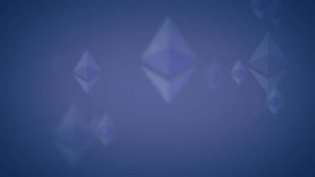 ethereum eth nft vertical logo icon looping background pale indigo on dark blue - loopable moving image stock videos & royalty-free footage