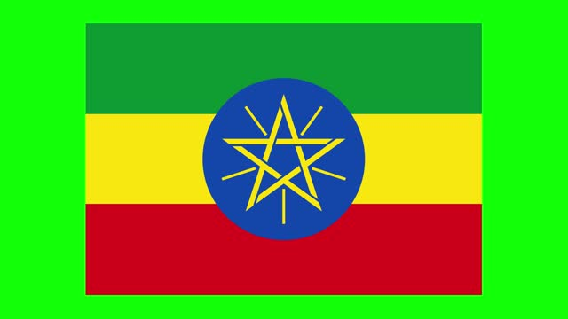 ethiopia flag animation on green screen background, chroma key, loopable - horn of africa stock videos & royalty-free footage