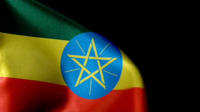 ethiopia flag flapping - gondar stock videos and b-roll footage
