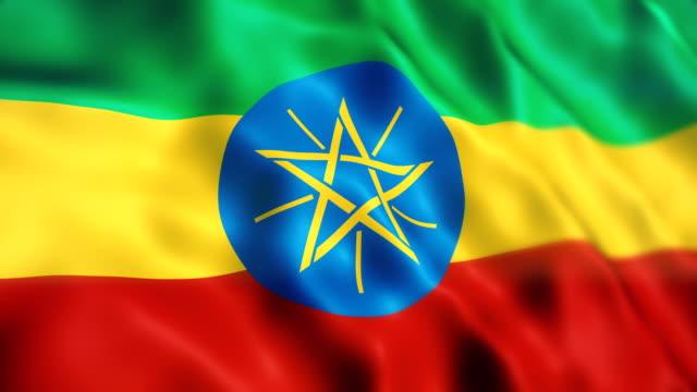 ethiopia flag - ethiopia stock videos & royalty-free footage