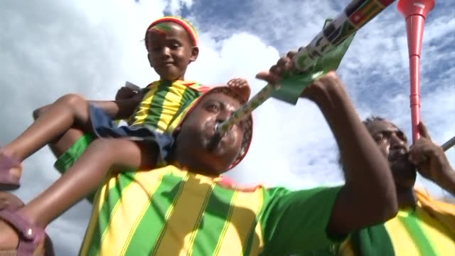 ethiopia is back in the africa cup of nations after a 31 year absence clean ethiopia back in afcon on january 23 2013 in nelspruit south africa - provinz mpumalanga stock-videos und b-roll-filmmaterial