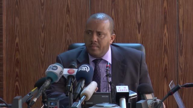 ethiopian communication affairs minister and government spokesman, getachew reda speaks during a news conference in addis ababa, ethiopia on october... - security blanket stock videos & royalty-free footage