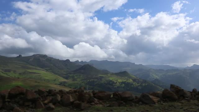 ethiopian landscape - corno d'africa video stock e b–roll