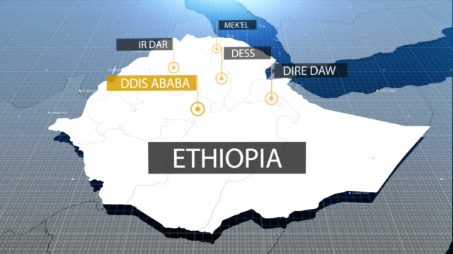 ethiopian map with label then with out label - ethiopia stock videos and b-roll footage