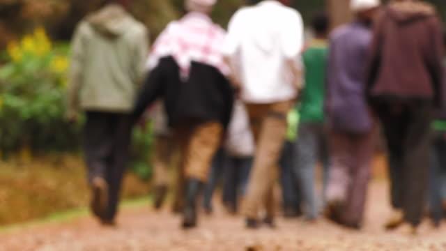 Ethiopian Men Walking Away