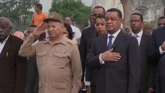Ethiopian President Mulatu Teshome paid tribute on Tuesday to Cuban fighters killed in African liberation wars during a state visit which included a...