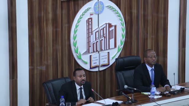 stockvideo's en b-roll-footage met ethiopian prime minister abiy ahmed on monday said his nation continues to face challenges that come in many forms including terrorism extremism... - staatsgreep