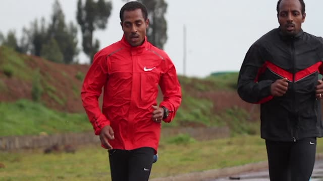stockvideo's en b-roll-footage met ethiopian track legend kenenisa bekele says he is still a long way from thinking of retirement and is instead eyeing a step up to the marathon in... - hoorn van afrika
