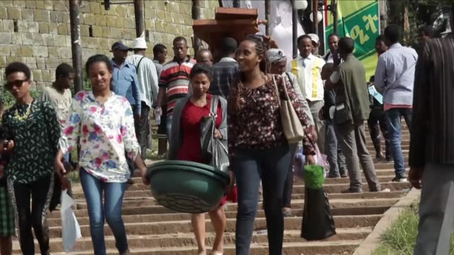 Ethiopians celebrate their New Year or Enkutatash on Sunday and the Muslim feast of Sacrifice on Monday filling the small alleys of Addis Ababa's...