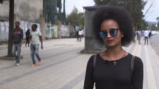 ethiopians in addis ababa react to the news that the country's prime minister abiy ahmed has been awarded the 2019 nobel peace prize - ethiopia stock videos & royalty-free footage