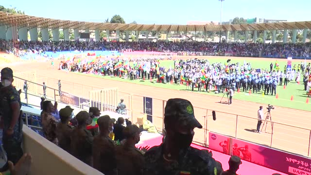 ethiopians on november 17, 2020 hailed their armed forces for fighting in northernmost tigray province. on nov. 4, ethiopian prime minister abiy... - ethiopia stock videos & royalty-free footage