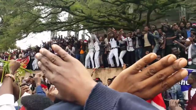 ethiopia's ethnic oromos take part in the annual irreecha festival, the thanksgiving festival of the oromo people, in bishoftu, a resort town in... - ethiopia stock videos & royalty-free footage