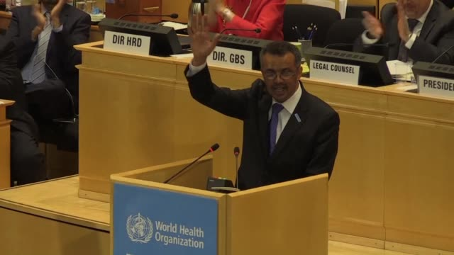 ethiopia's tedros adhanom is elected as the new head of the world health organization the first african at the helm of an agency widely seen as... - helm stock videos & royalty-free footage