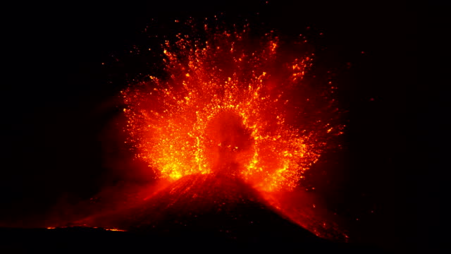 etna explosiv eruption - volcano stock videos & royalty-free footage