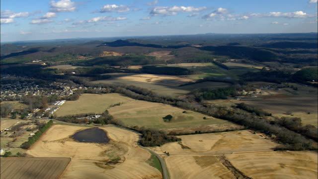 Etowah Indische terpen historische Site - luchtfoto - Georgië, Bartow County, Verenigde Staten