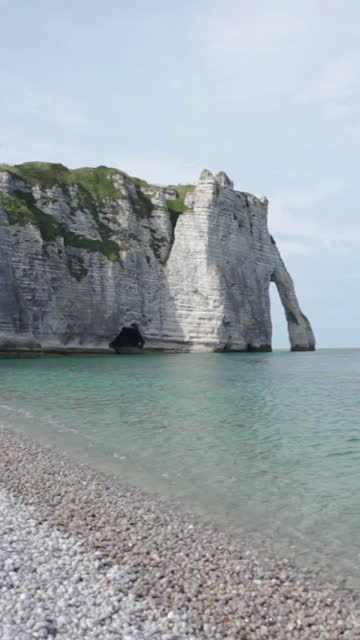 etretat beach in normandy - france - allied forces stock videos & royalty-free footage