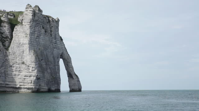 etretat cliff in normandy - france, view of the beach - allied forces stock videos & royalty-free footage
