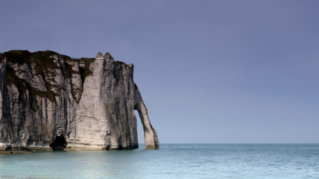 etretat normandy - natural arch stock videos & royalty-free footage