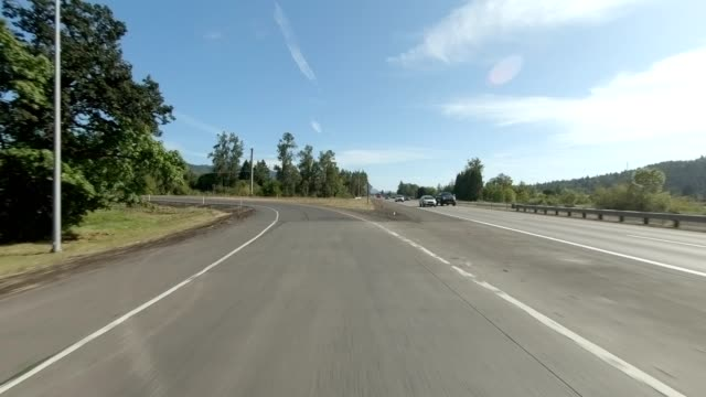 eugene highway i synced series rear view driving process plate - eugene oregon stock videos & royalty-free footage