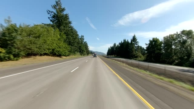 eugene highway ii synced series rear view driving process plate - eugene oregon stock videos & royalty-free footage