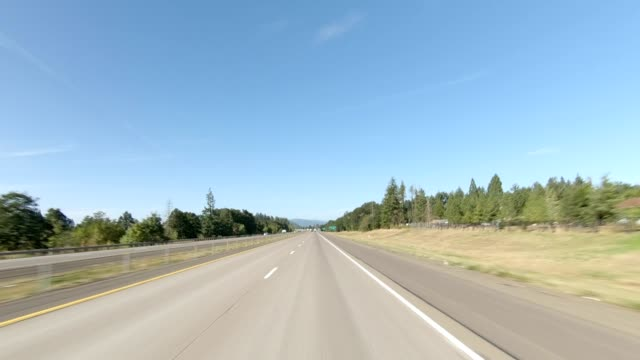 eugene highway iii synced series front view driving process plate - oregon us state stock videos & royalty-free footage