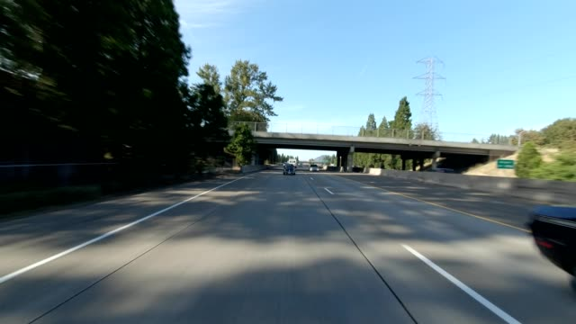 eugene highway xxix synced series rear view driving process plate - eugene oregon stock videos & royalty-free footage