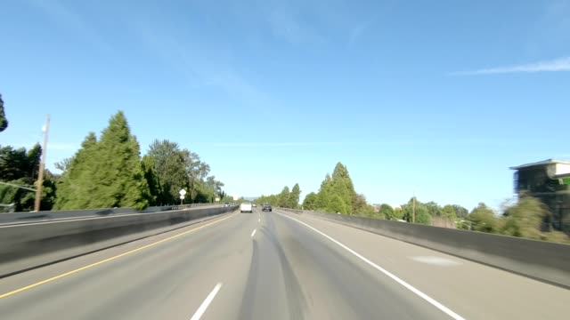 eugene highway xxviii synced series front view driving process plate - oregon us state stock videos & royalty-free footage