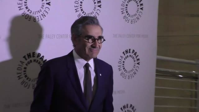 eugene levy at the paley center for media presents paleylive an evening with schitt's creek at paley center in beverly hills - celebrity sightings on... - paley center for media los angeles stock videos & royalty-free footage