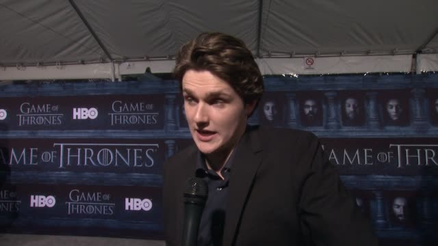 INTERVIEW Eugene Simon on that he's here at the TCL Chinese Theater and what it means to have his show premiere at such an iconic Hollywood theater...