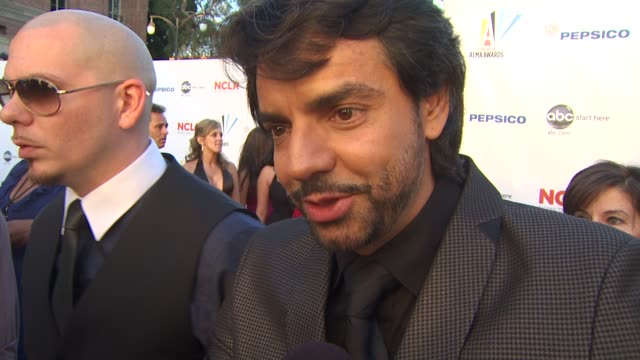 eugenio derbez on the importance of the alma awards at the 2009 alma awards at westwood los angeles ca - alma awards stock videos and b-roll footage