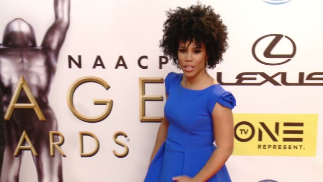 eunique jones gibson at 47th annual naacp image awards at pasadena civic auditorium on february 05 2016 in pasadena california - pasadena civic auditorium stock-videos und b-roll-filmmaterial