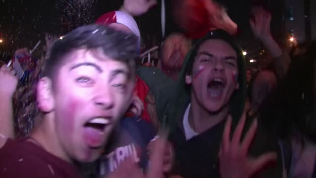Euphoric Chileans celebrate their first Copa America win after defeating Argentina on penalties