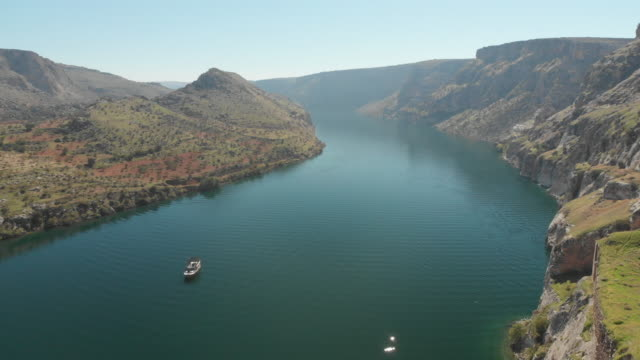 euphrates river, halfeti, gaziantep, turkey - mesopotamia stock videos and b-roll footage
