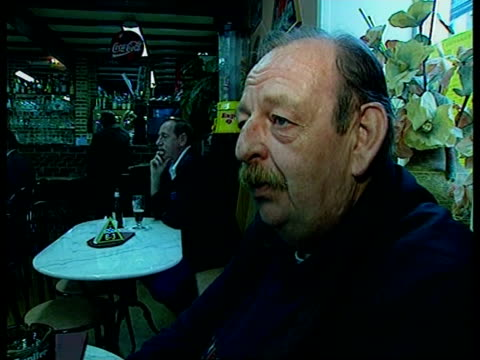 england v germany preperations en bill neely itn belgium charleroi section of stands in the charleroi stadium zoom in int vox pops local people sot... - euro 2000 stock videos & royalty-free footage