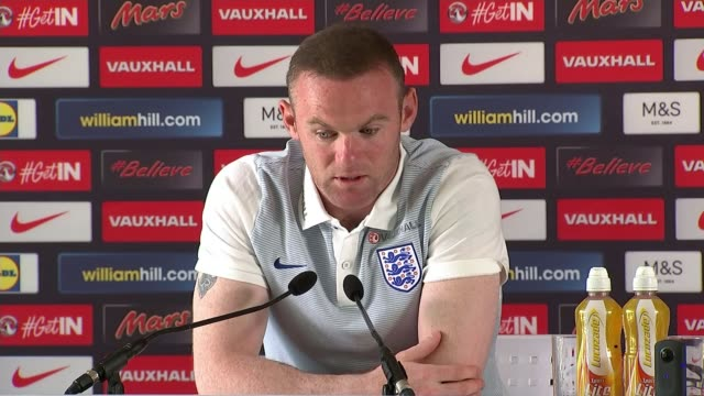 England to face Iceland in knockout matches Chantilly INT Wayne Rooney press conference SOT He's the manager it's his decision I have to respect that...