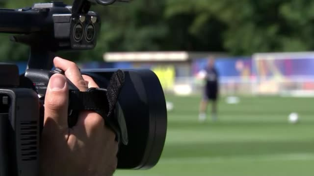 England to face Iceland in knockout matches Chantilly England players training Various shots Hodgson on pitch