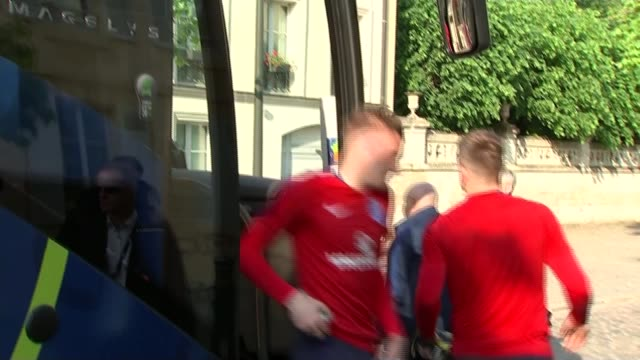 England Wales and Northern Ireland teams arrive at their hotels SaintGeorgesdeReneins Northern Ireland players training Northern Ireland players...