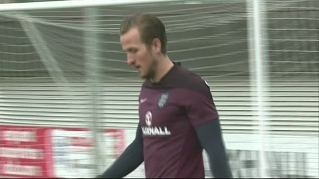harry kane scores in debut match against lithuania 2432015 england staffordshire st george's park ext harry kane along at england training session... - harry kane soccer player stock videos & royalty-free footage