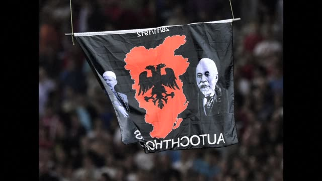 A Euro 2016 qualifying match between Serbia and Albania was abandoned after a drone carrying a pro Albanian message was flown over the stadium late...